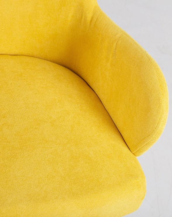 Кресло Home4you Eleanor 20782, желтый, 50x76x59 см