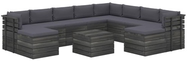Āra mēbeļu komplekts VLX 11 Piece 3062091, antracīts, 9-10 sēdvietas