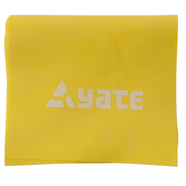 Vingrošanas lente Yate Fit Band Soft Yellow, 1200 mm x 120 mm x 1 mm