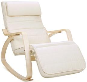 Atzveltnes krēsls Songmics, bēša, 67x115x87 cm