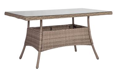 Dārza galds Home4you Toscana Beige, 140 x 80 x 73 cm