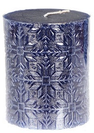 Verners Candle 6x7cm Blue/Silver