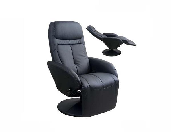 Atzveltnes krēsls Halmar Optima Black, 80x77x84 cm