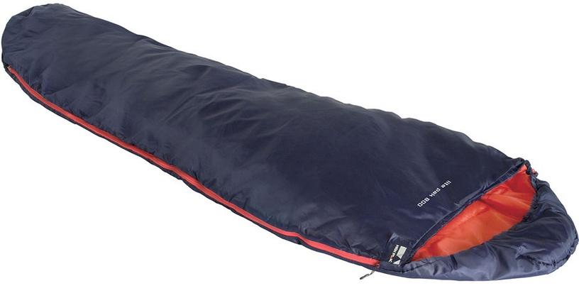 Guļammaiss High Peak Lite Pak 800 Blue/Orange, kreisais, 210 cm