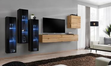 Dzīvojamās istabas mēbeļu komplekts ASM Switch XIII, melna