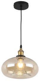 Verners Amber Ceiling Lamp 60W E27 Black