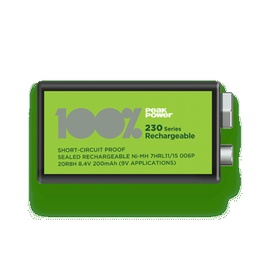 Uzlādējamais elements 100% PeakPower PP20R8H-U1 9V Rechargeable Battery
