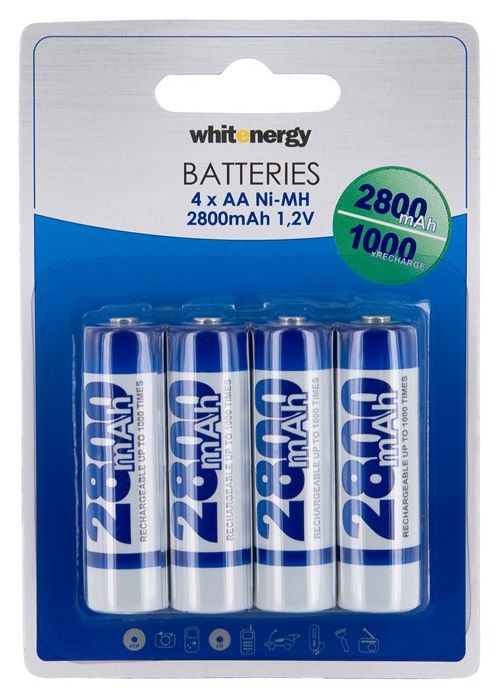 Whitenergy Rechargeable Battery 4 x AA 2800mAh