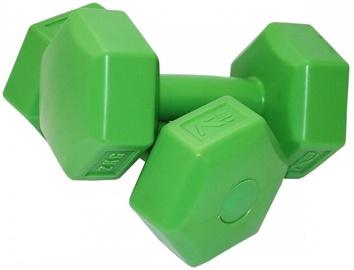 Hantele SportVida Hexagonal Shape Dumbbell Set Green 2x2kg