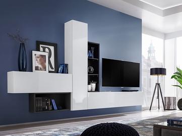 Dzīvojamās istabas mēbeļu komplekts ASM Blox IV White/Black