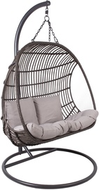 Home4you Chestnut Hanging Chair 2 Seater Dark Brown