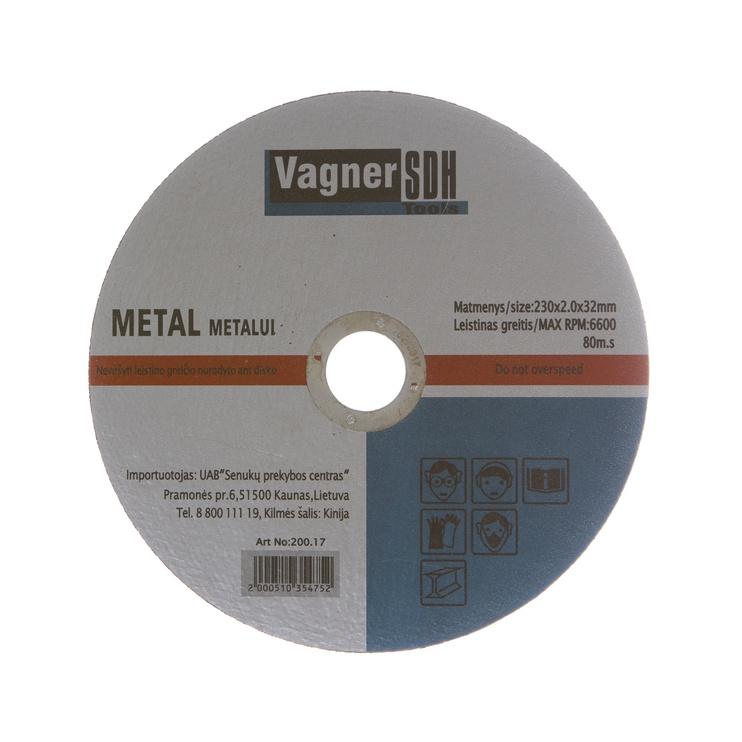 Disks tērauda griešanai Vagner SDH 230x2,0x32mm