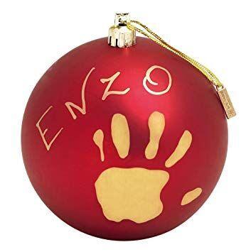 Komplekts roku / kāju zīmogu izveidei Baby Art My Christmas Fairy Red