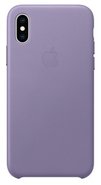 Apple Leather Back Case for Apple iPhone XS Lilac