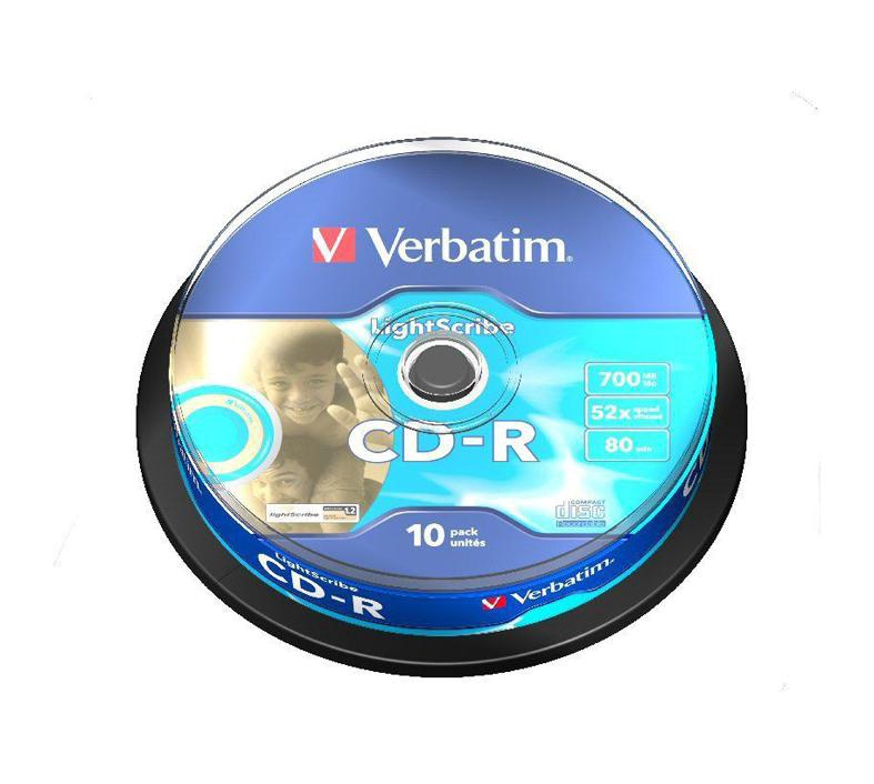 DISKI CD+R 700 MB 52X EXTRA PROTECTION CAKE*10 (VERBATIM)