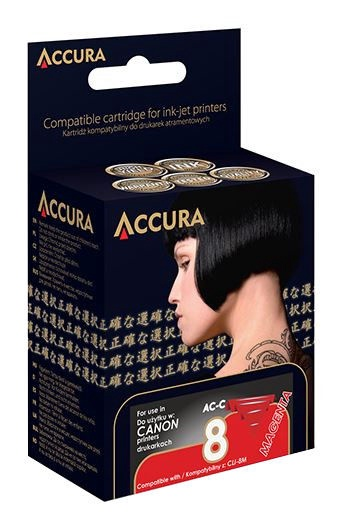 Accura Cartridge For Canon 14ml Magenta
