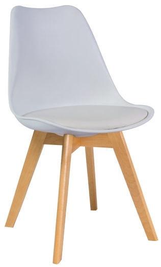Ēdamistabas krēsls Signal Meble Kris Beech Beech White, 1 gab.