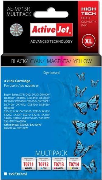 ActiveJet AE-M715R Cartridge 9ml 3 x 7ml Black Cyan Magenta Yellow
