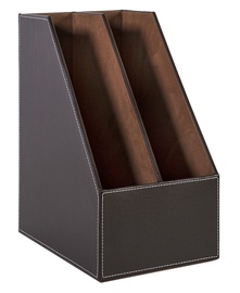 Home4you Walter Vertical Document Shelve Dark Brown
