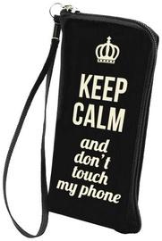 GreenGo Universal Flexi Zipper Pouch 15.5x9cm Keep Calm Black