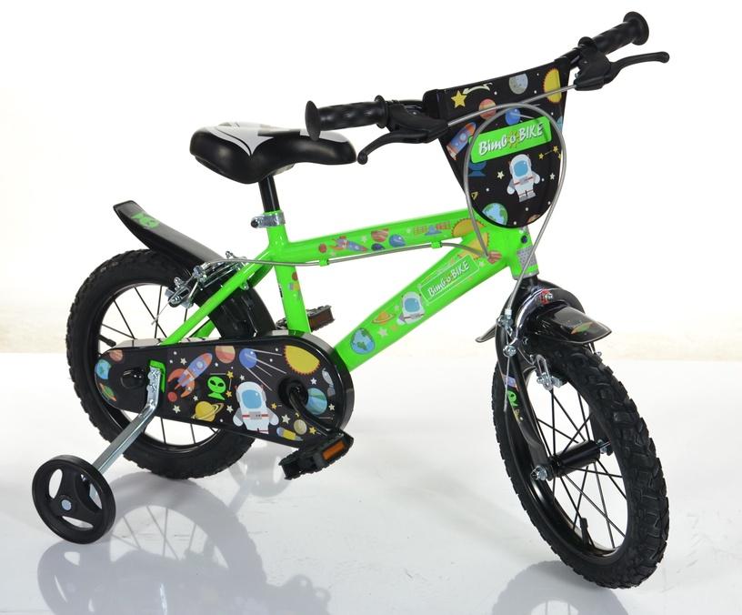 Детский велосипед Bimbo Bike Cosmos 77335, зеленый, 14″