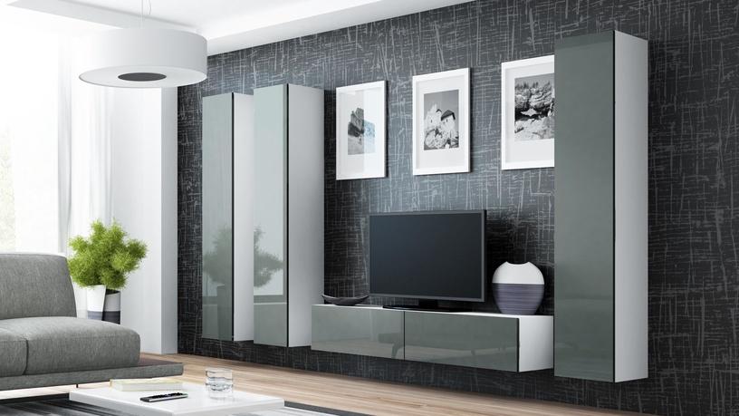 Cama Meble Vigo 180 Full Cabinet White/Grey Gloss