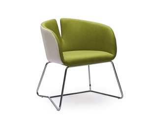Atzveltnes krēsls Halmar Pivot, balta/zaļa, 63x62x74 cm