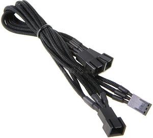 BitFenix 3-Pin to 3 x 3-Pin Splitter for Fans 60cm Black