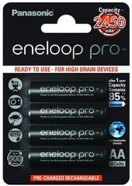 Panasonic Eneloop Pro Rechargeable Battery 4x AA 2450mAh