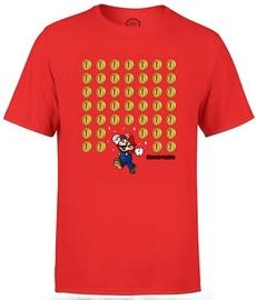 Nintendo T-Shirt Super Mario Coin Drop Red M
