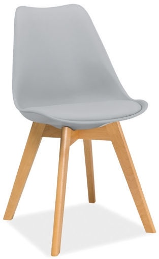 Ēdamistabas krēsls Signal Meble Kris Light Grey, 1 gab.