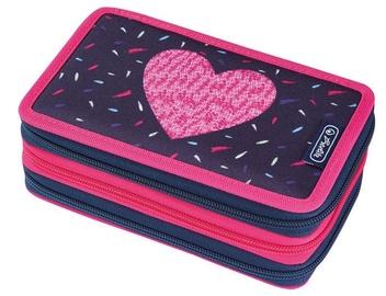 Herlitz 3 Side Pencil Case Heart Pink