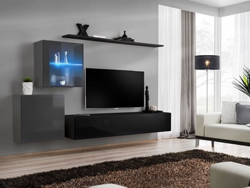 Dzīvojamās istabas mēbeļu komplekts ASM Switch XV Graphite/Black