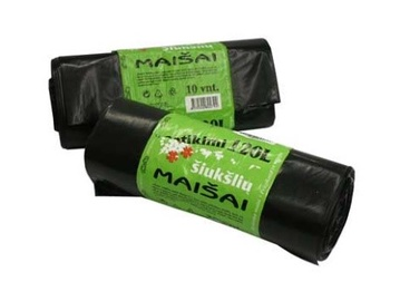 Plasta Garbage Bags Strong 120l 10pcs Black