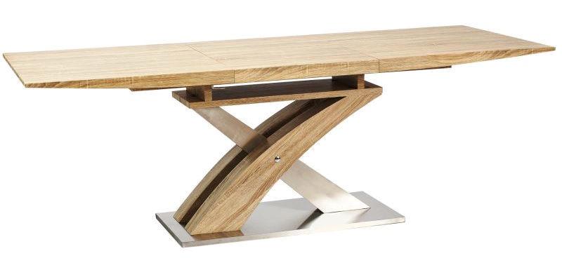 Pusdienu galds Signal Meble Raul Sonoma Oak, 1600x900x760 mm
