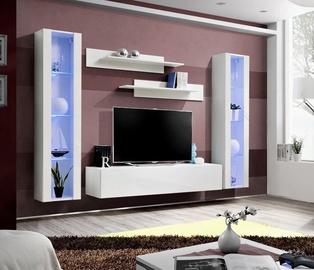 Dzīvojamās istabas mēbeļu komplekts ASM Fly A2, balta