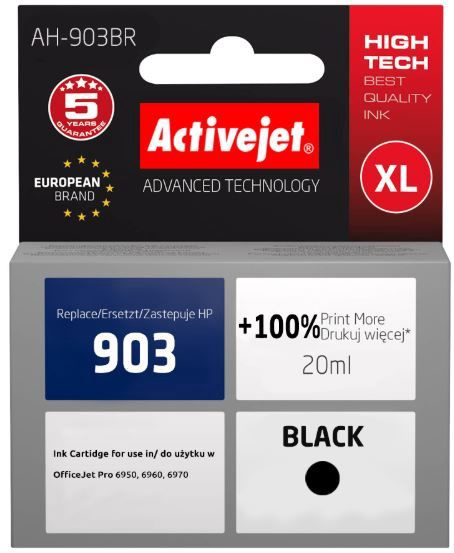 ActiveJet Cartridge AH-903BR For HP 20ml Black