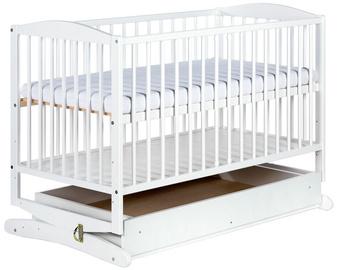 Детская кровать Klups Radek White, 120x60 см