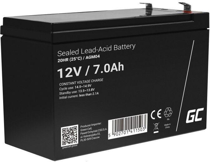 UPS aккумулятор Green Cell AGM GC 12V 7Ah