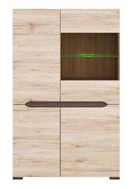 Шкаф-витрина Black Red White Elpasso REG1W3D, коричневый, 90x41.5x144 см
