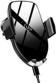 Usams US-CD72 Automatic Sensor Car Holder With Qi Wireless Charging Black