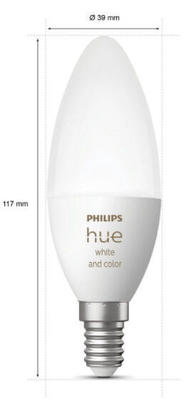 Philips Hue E14 2-Pack Bulb White and Color Ambiance