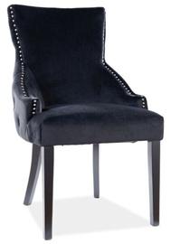 Ēdamistabas krēsls Signal Meble Modern George Velvet, melna
