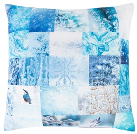 Home4you XMAS Story 45x45cm Blue
