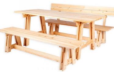 Āra mēbeļu komplekts Folkland Timber Riva, priedes, 6 sēdvietas