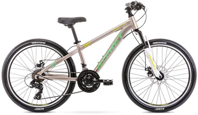 Детский велосипед Romet Rambler Dirt 24 JR 12'' 24'' Grey/Green 21