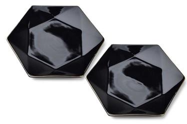 Šķīvs Mondex Ralph Dessert Plates Black 2pcs