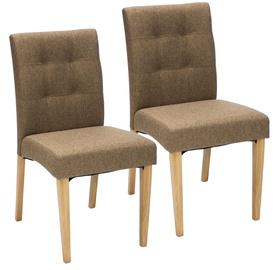 Ēdamistabas krēsls Home4you Enrich Brown, 2 gab.