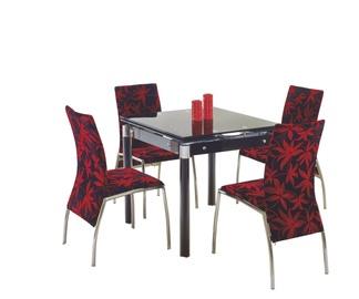 Обеденный стол Halmar Kent Black, 800 - 1300x800x760 мм