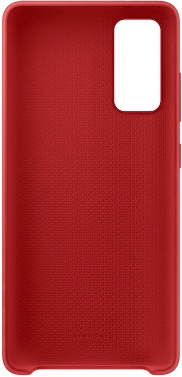 Samsung Silicone Back Case For Samsung Galaxy S20 FE Red